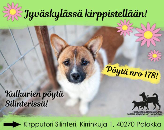 Jyväskylässä on toistaiseksi Kulkurien myyntipöytä Kirpputori Silinterissä.