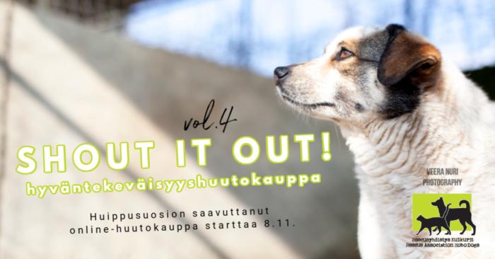Shout it Out vol 4 hyväntekeväisyyskauppa